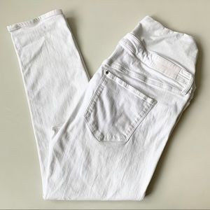 H&M Maternity White Slim Fit Jeans Size 14